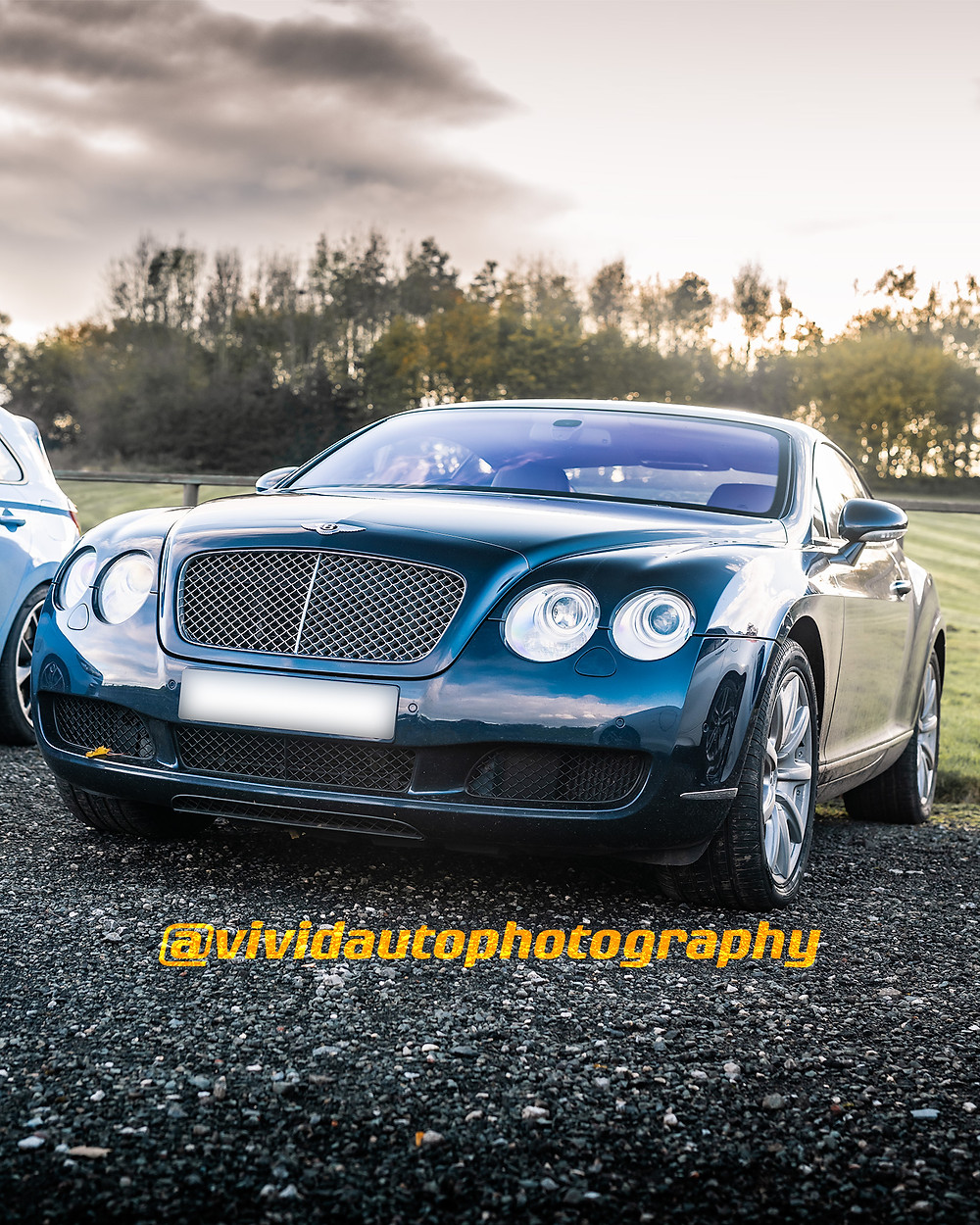 Bentley Continental GT | Dark Metallic Blue | Front three quarters poster