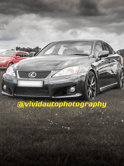 Lexus IS F   Grey   Front three quarter poster