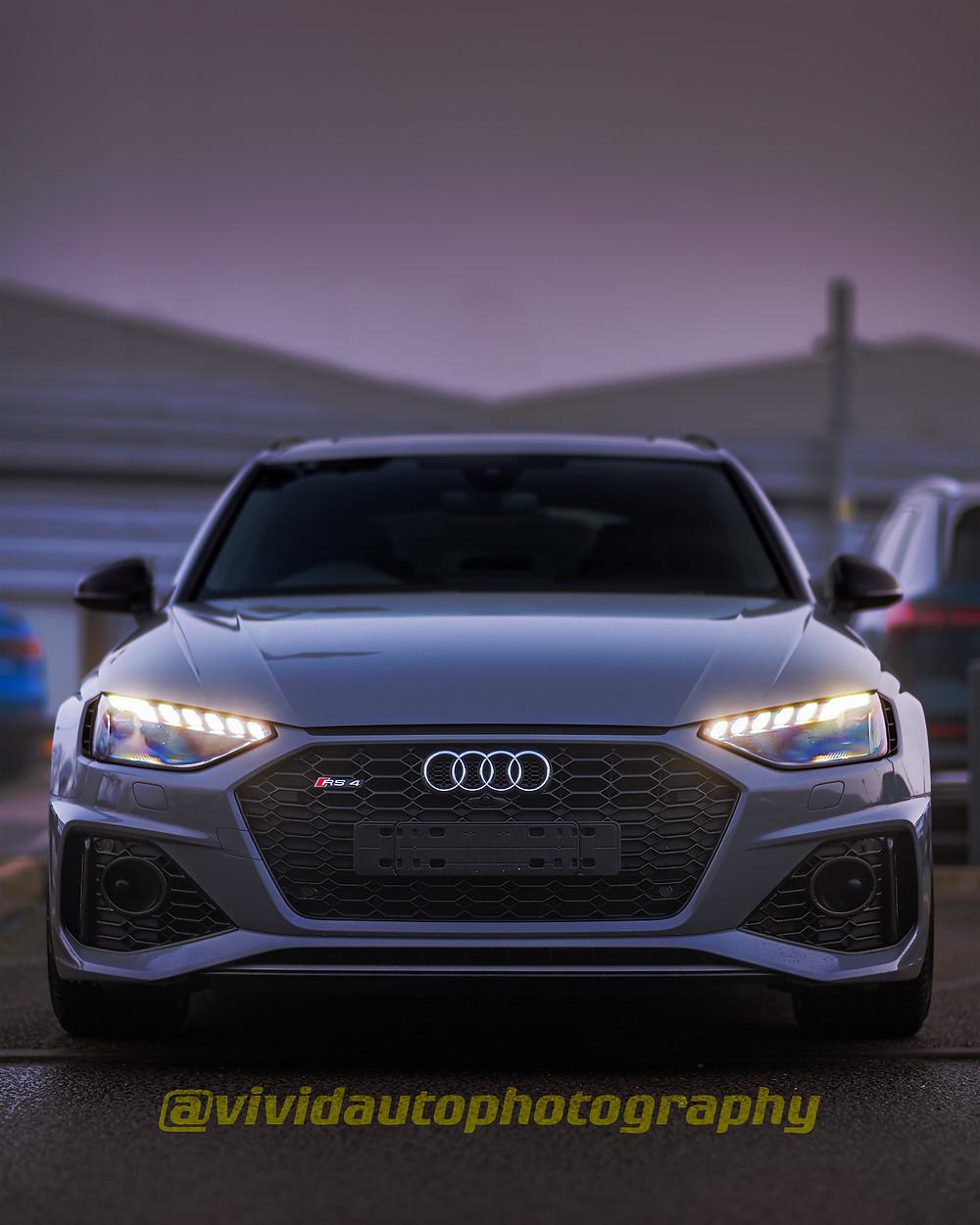 Audi RS4 Avant front poster | Fog
