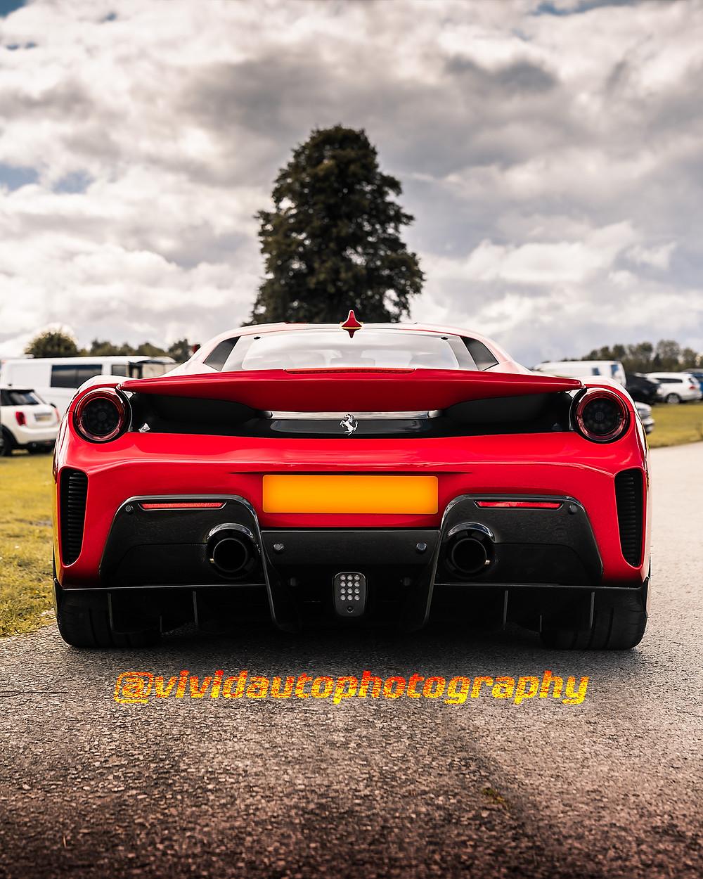 Ferrari 488 Pista | Rosso Corsa | Rear poster