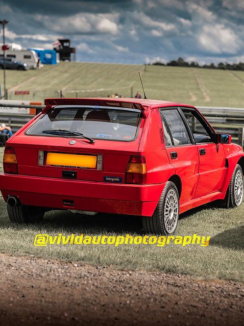 Lancia Delta HF Integrale Monza Red | Oulton Park