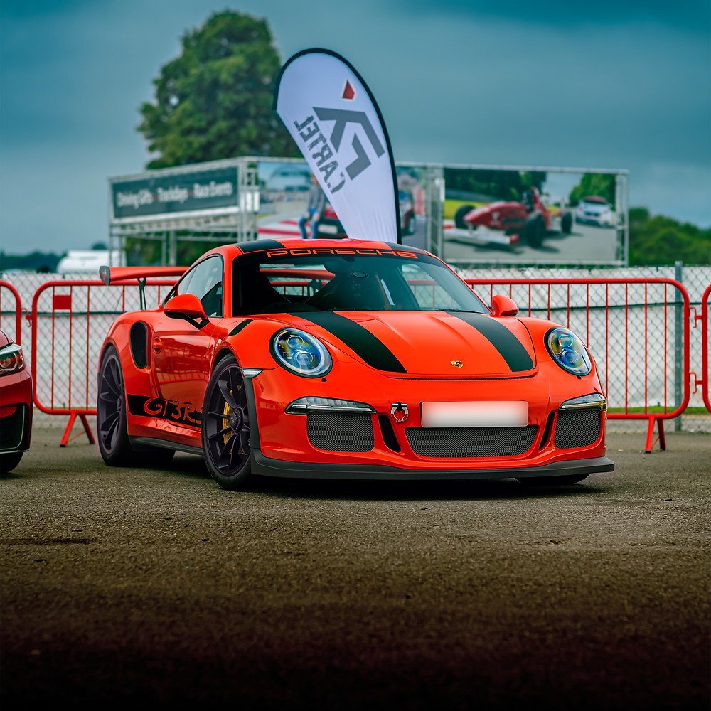 Porsche 911 GT3 RS front three quarters | Lava Orange