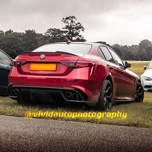 Alfa Romeo Giulia Quadrifoglio | Oulton Park | Rear three quarter poster