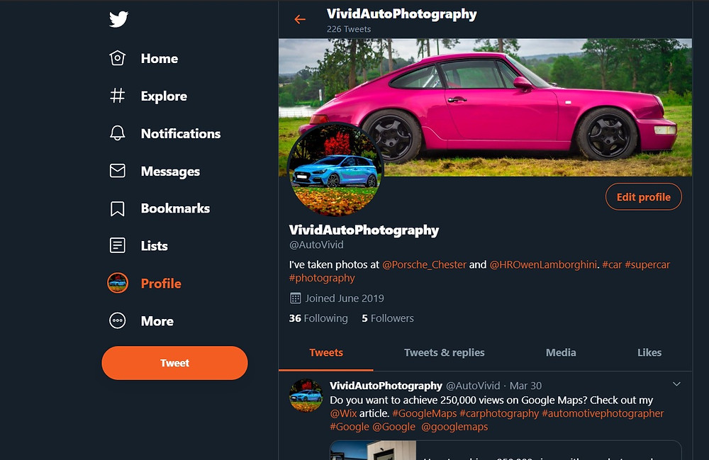 Vivid Auto Photography (Twitter) channel
