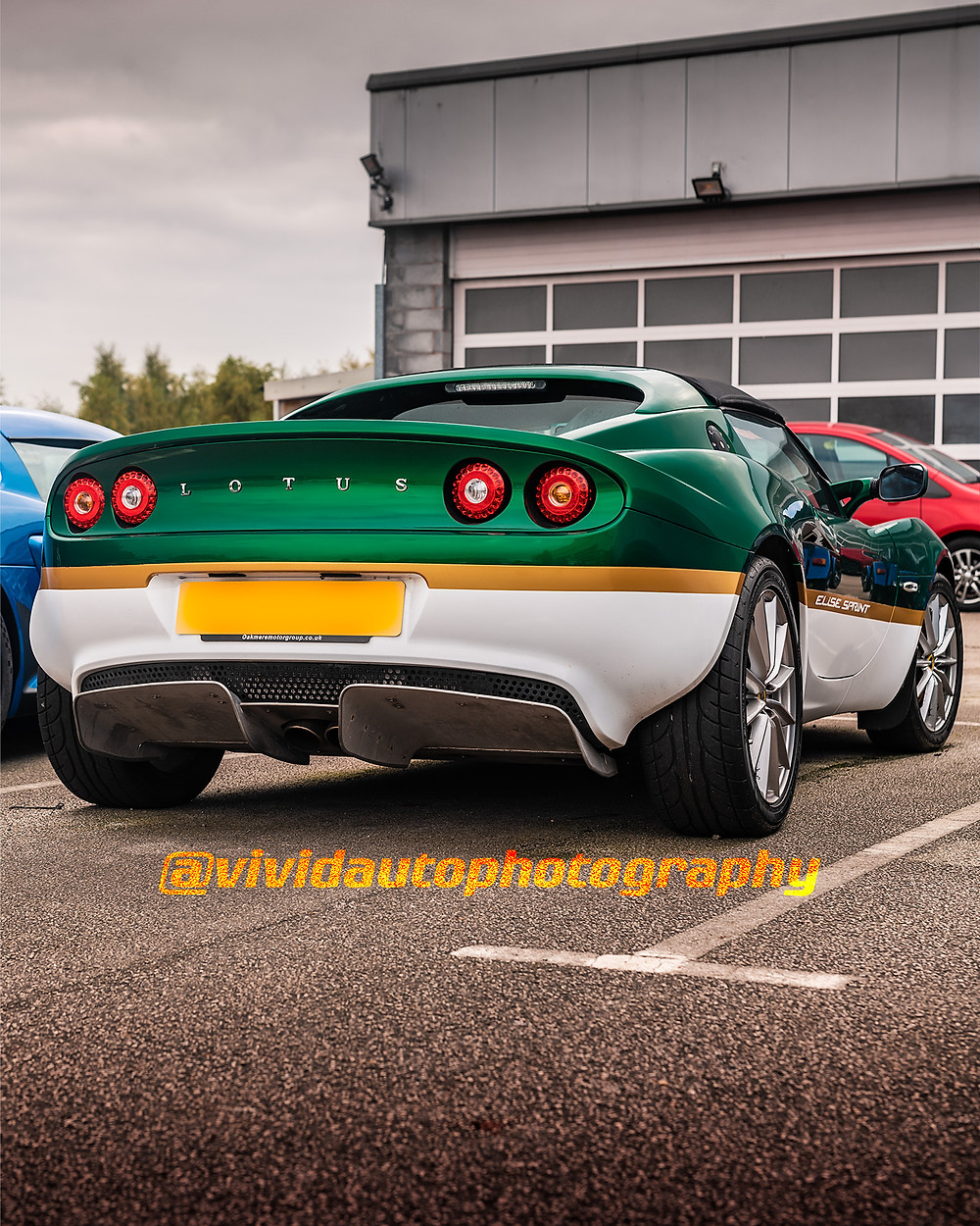 Lotus Elise Sprint | British Racing Green | Rear three quarters poster