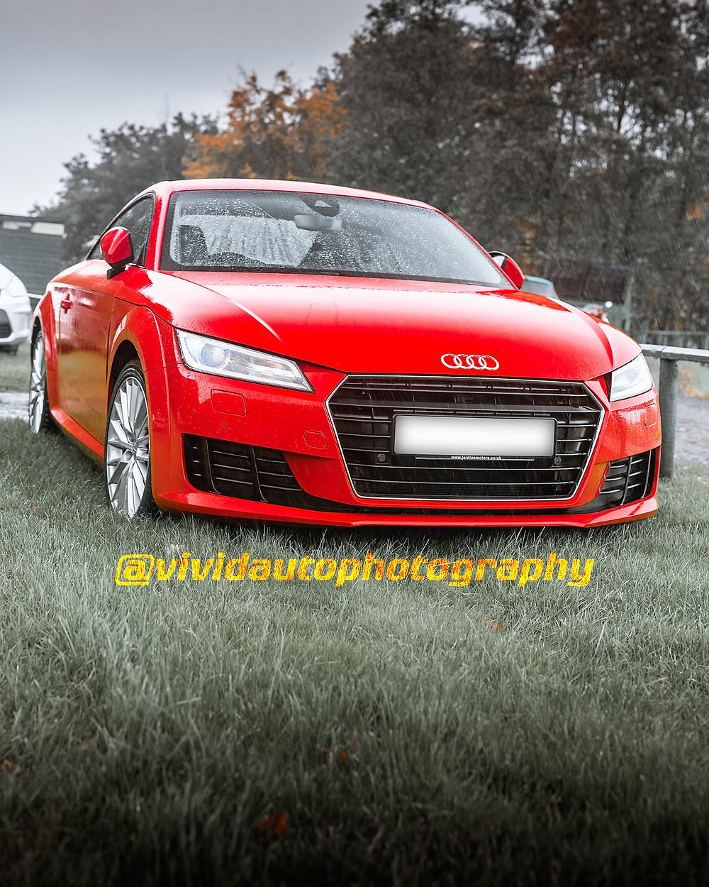 Audi TT | Red | Front three quarters poster
