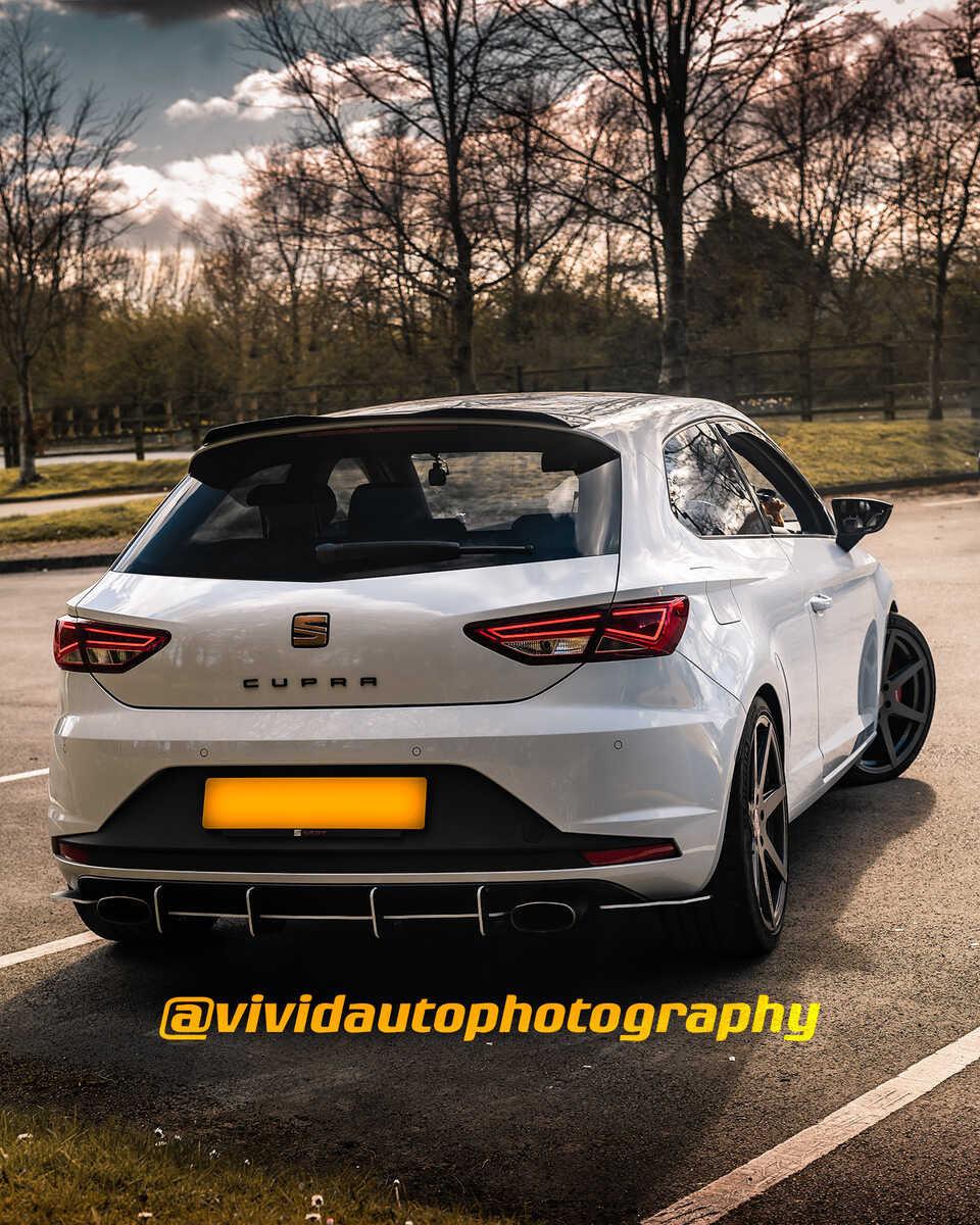Seat Leon Cupra MK3 | White | Rear three quarter poster