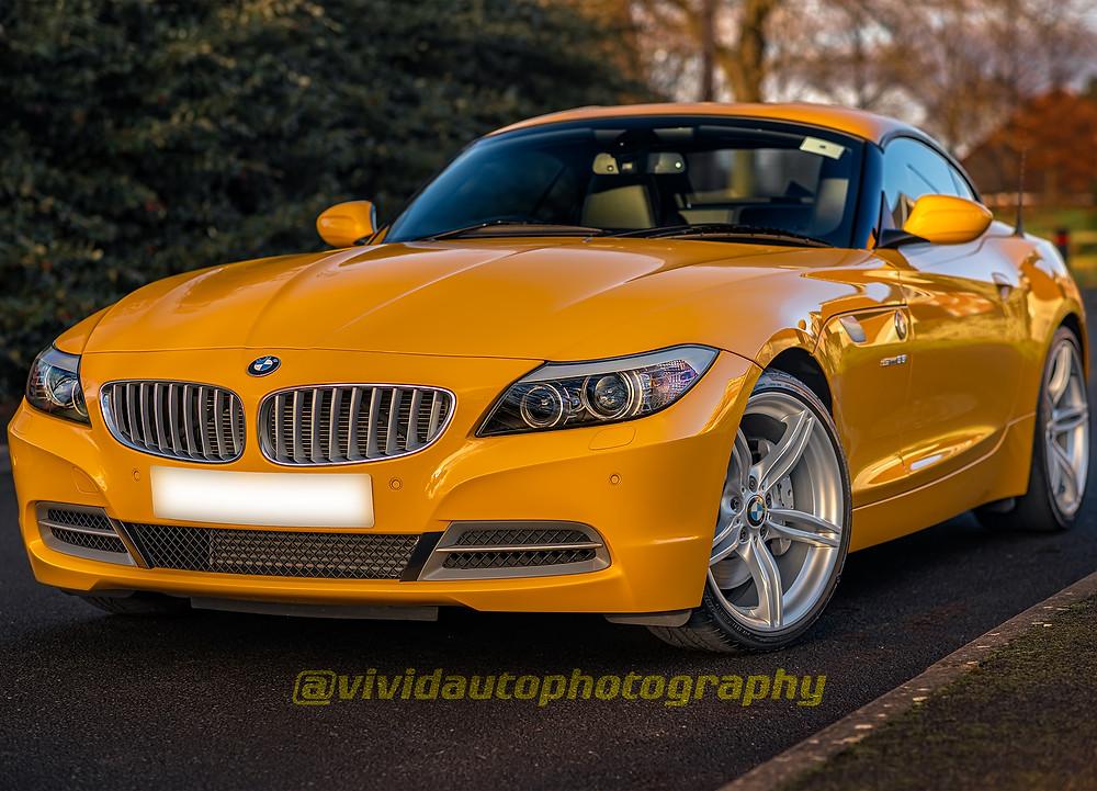 Crisp Photo of BMW Z4 E89 Atacama Yellow
