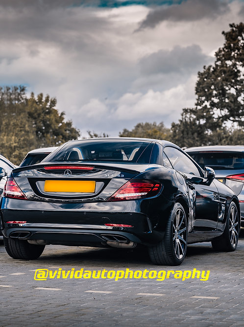 Mercedes AMG SLC43 | Obsidian Black Metallic | Rear three quarter