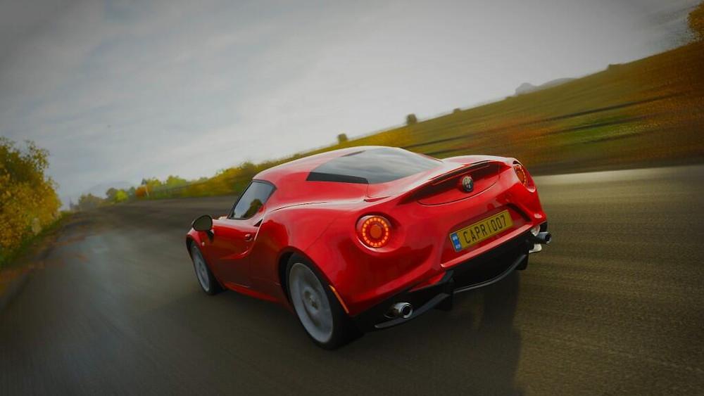 Alfa Romeo 4C | Rear three quarter | Forza Horizon 4