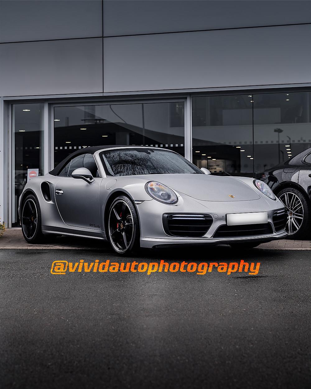 Porsche 911 991.2 Turbo S Cabriolet | GT Metallic SIlver | Porsche Centre Chester