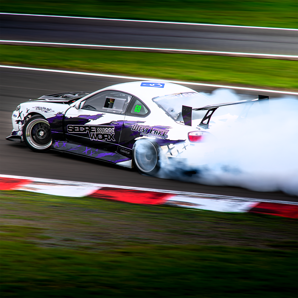 Nissan S15 Silvia rear three quarters drifting