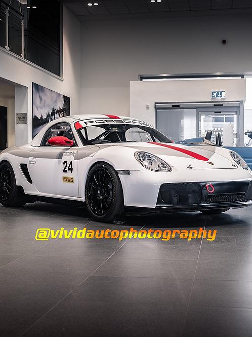 Porsche 987 Boxster Race Car | White | Porsche Chester