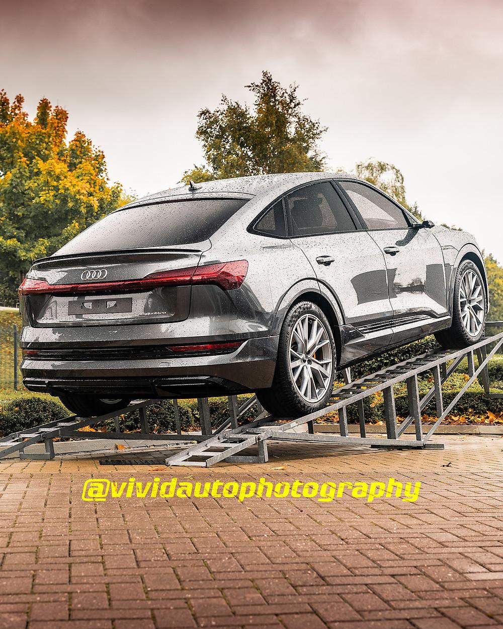 Audi E-Tron Sportback | Daytona Grey | Rear three quarter poster