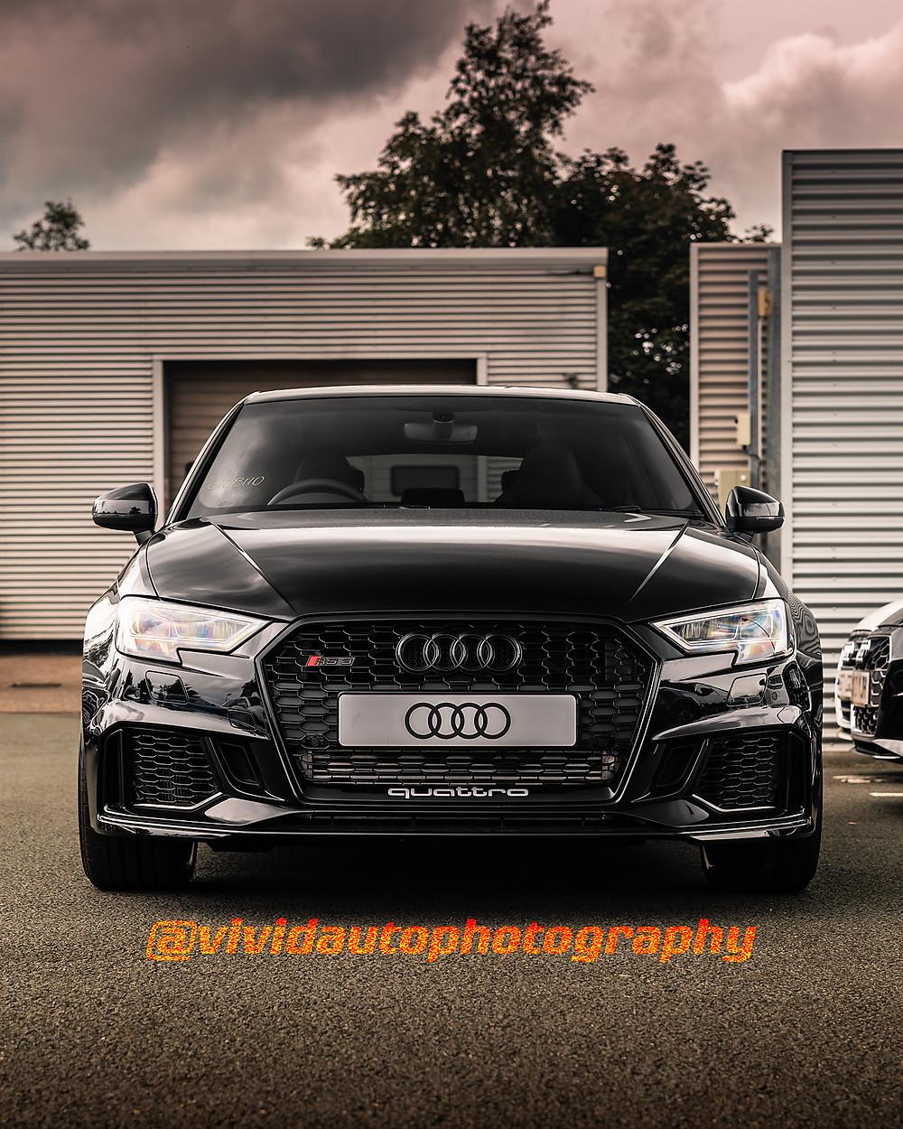 Audi RS3 | Mystic Black | Front poster