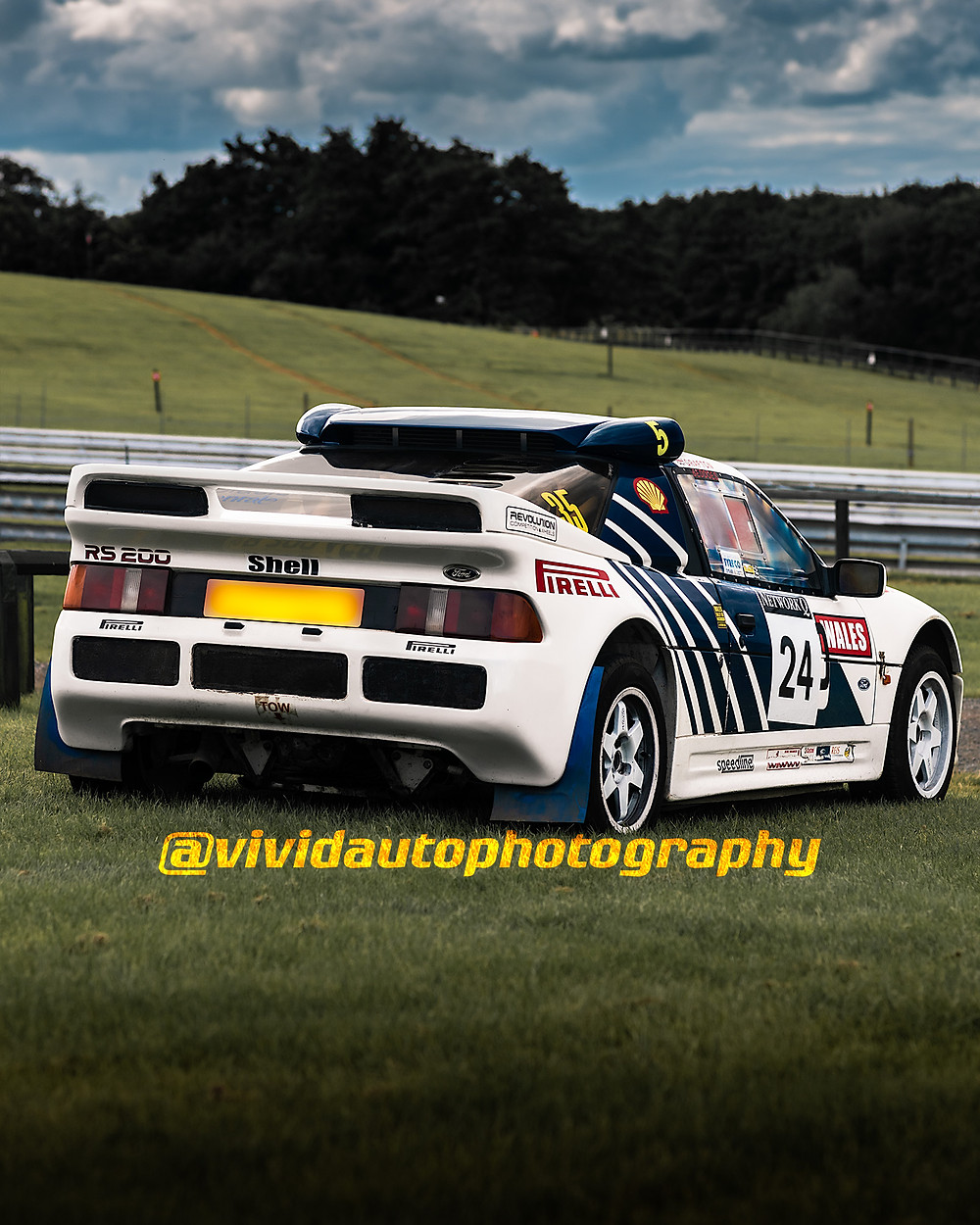 Ford RS200 Evolution | Rear Three Quarters Poster