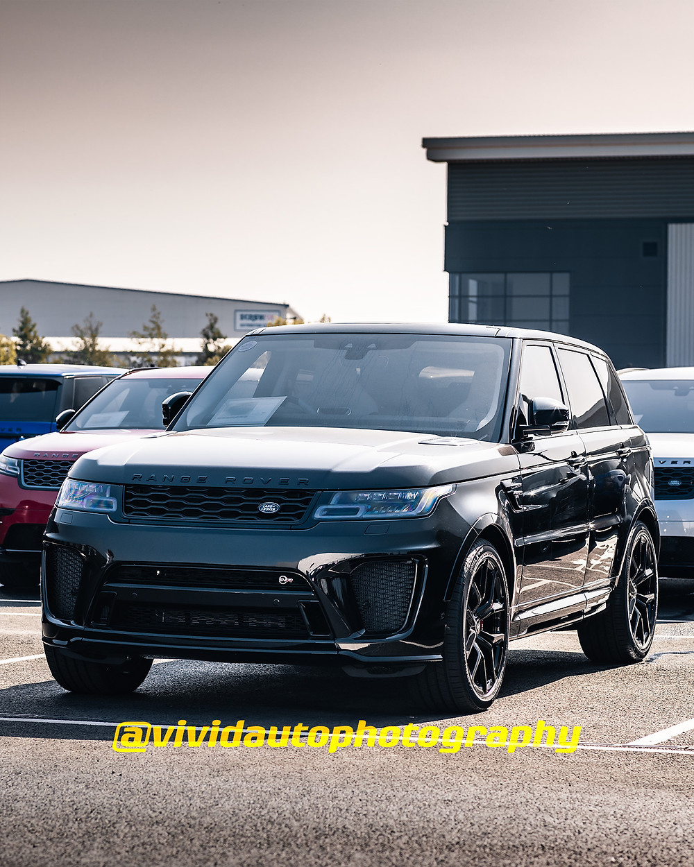 Range Rover Sport SVR | Black | Front three quarters poster