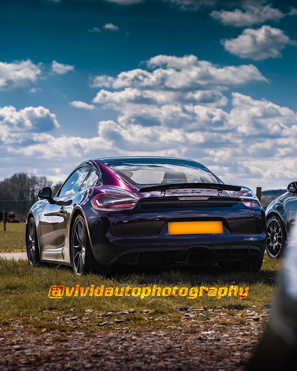Porsche Cayman GTS   Amethyst Purple   Rear three quarter poster