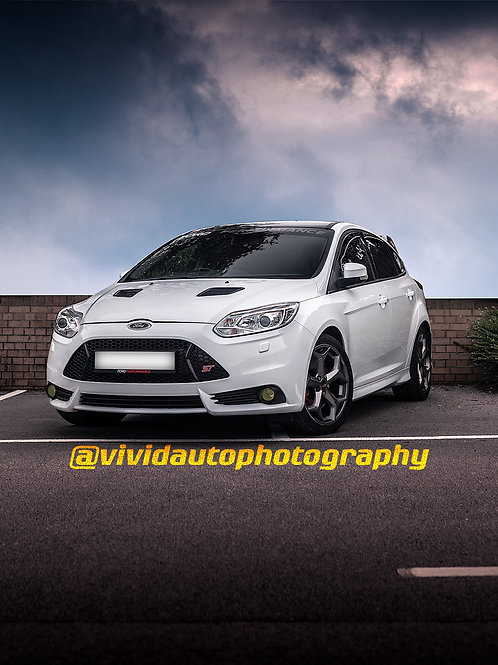 Ford Focus ST MK3 Front Three quarters Poster