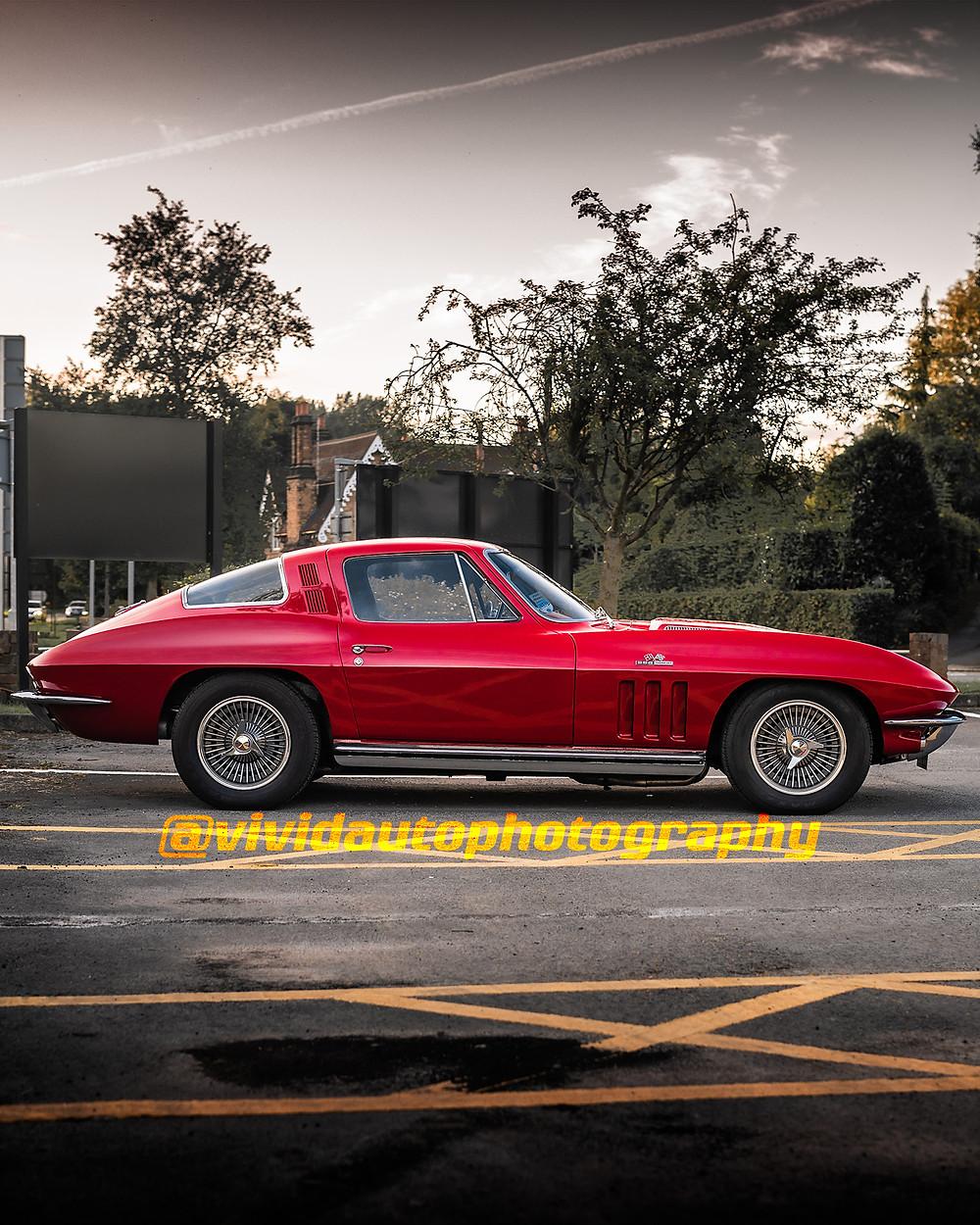 Chevrolet Corvette C3   Red   Side profile poster