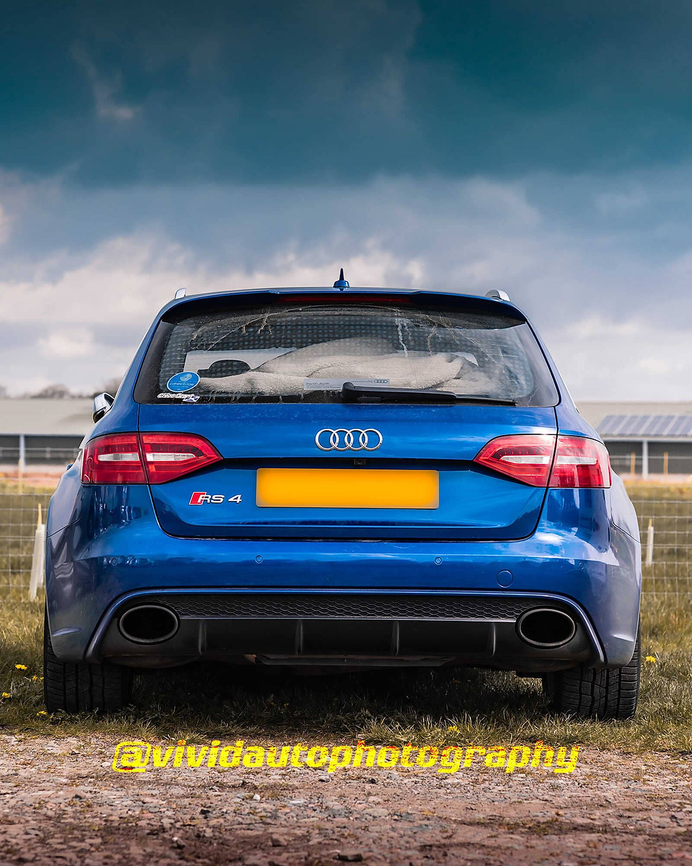 Audi RS4 Avant   Sepang Blue   Rear poster