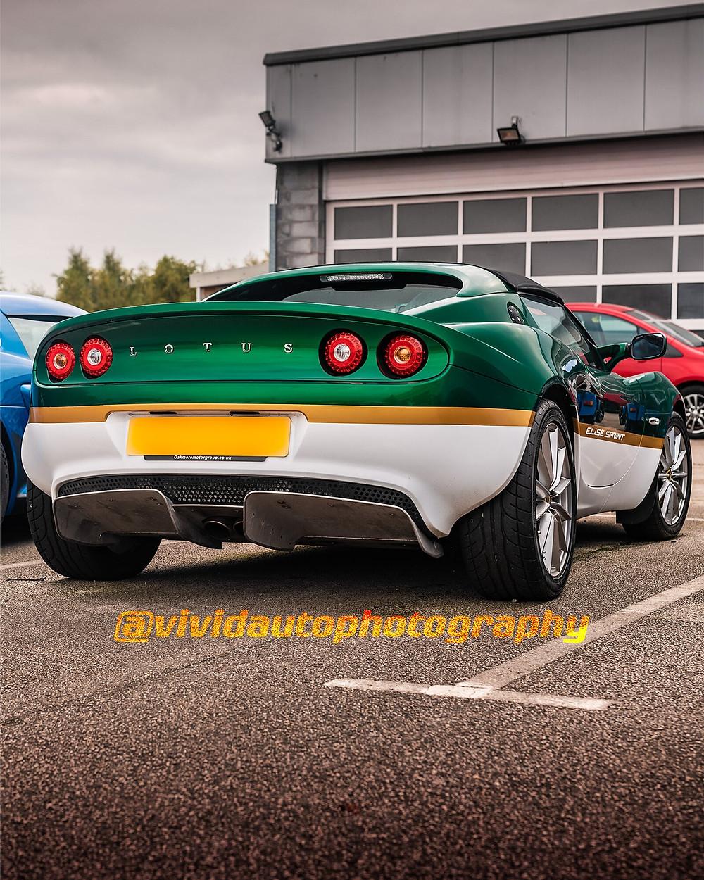 Lotus Elise Sprint S3 | British Racing Green | Rear three quarter poster