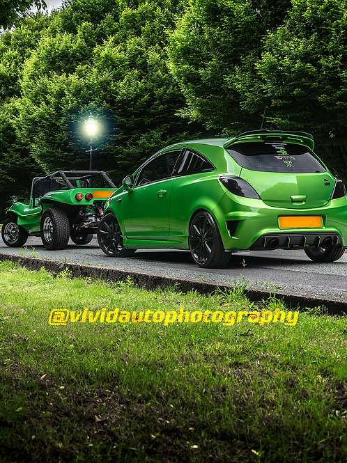Vauxhall Corsa VXR Nurburgring Edition and Manta Ray | Crewe Hall | Poster