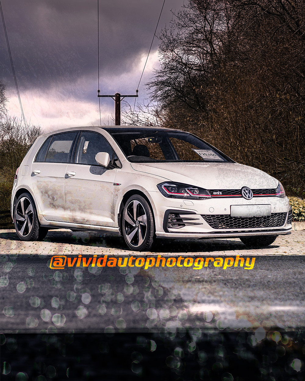 Volkswagen Golf GTI Clubsport front three quarters poster