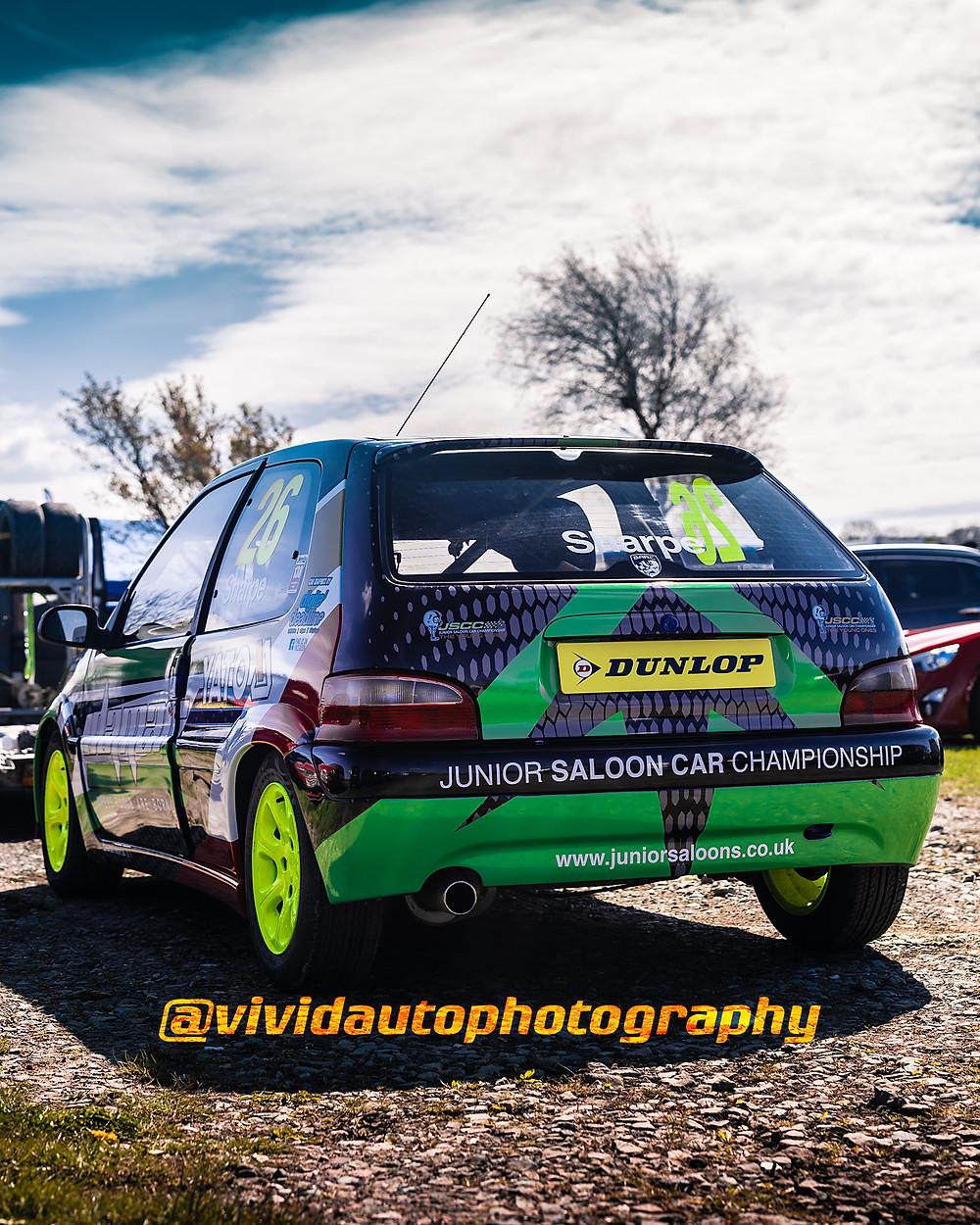 Citroen Saxo | Chase Sharp | Rear three quarter poster