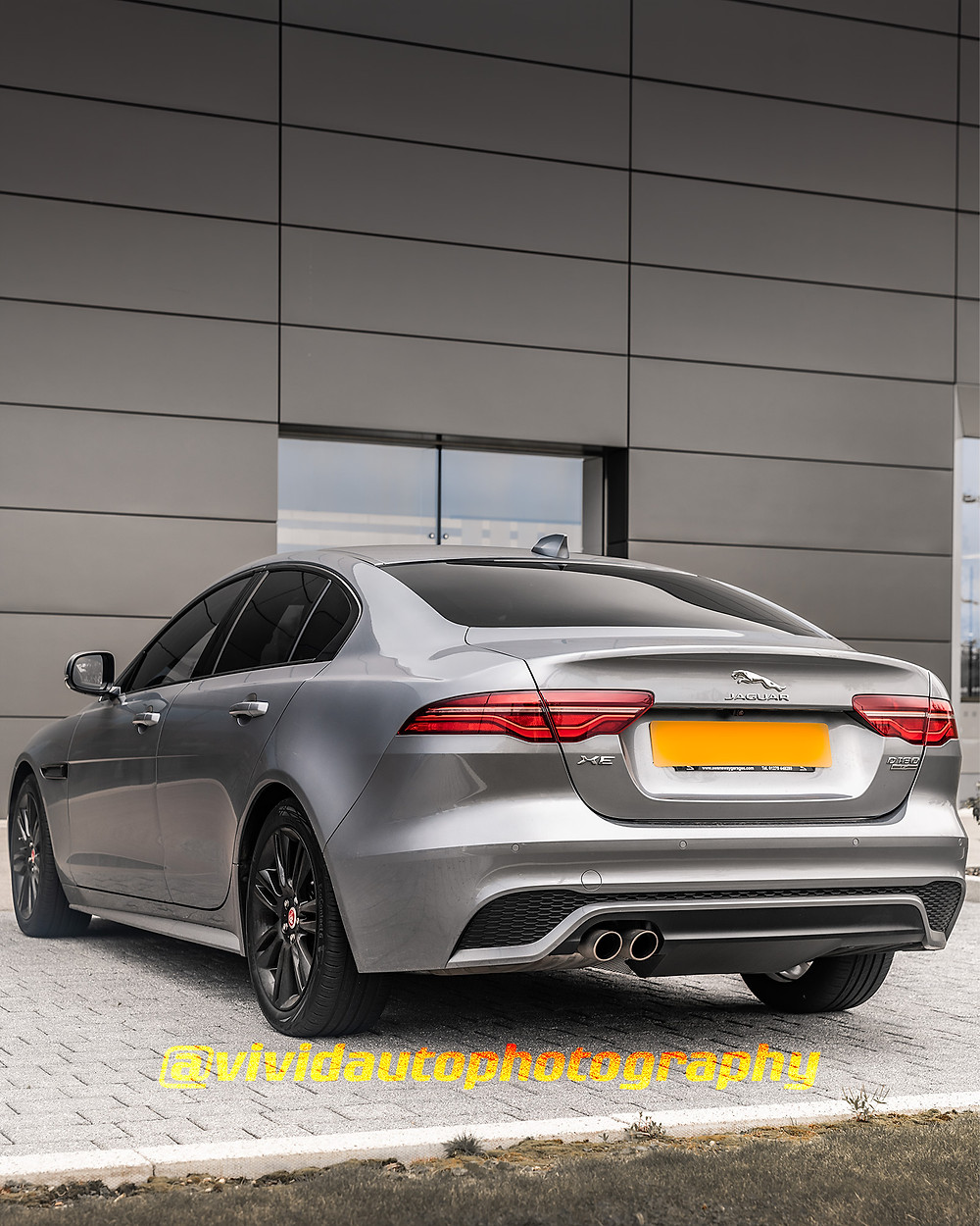 Jaguar XE | Indus Silver | Rear three quarters poster