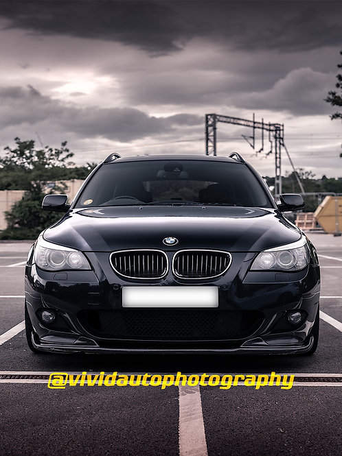 BMW 535d Touring front Poster