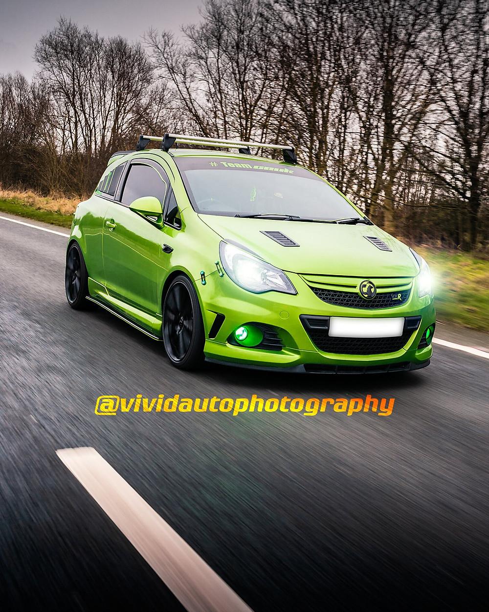 Vauxhall Corsa VXR Nurburgring | Lime Rock | Front three quarter