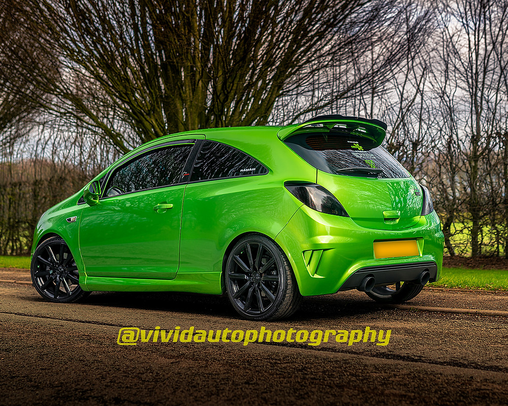 Vauxhall Corsa Nurburgring Edition rear three quarters Crewe Hall