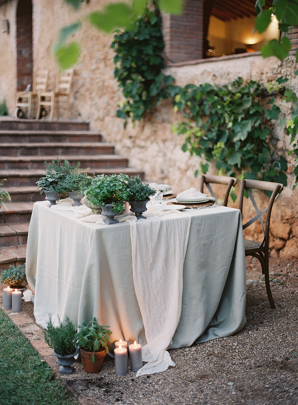 Sweethearttable wedding Tuscany Kurt Boomer Photography