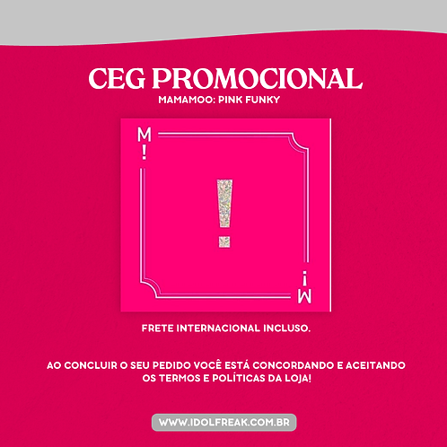 CEG PROMOCIONAL: MAMAMOO, PINK FUNKY (FRETE INTERNACIONAL INCLUSO)