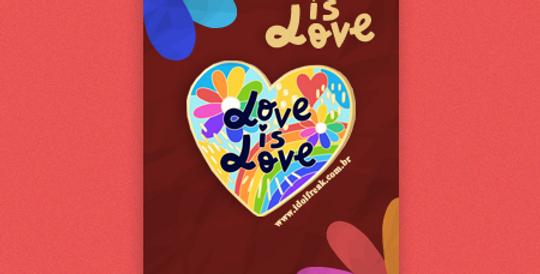 LOVE IS LOVE (AMOR É AMOR): BROCHE