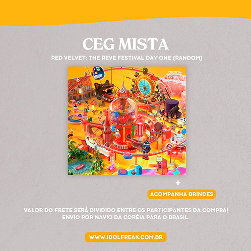 CEG MISTA: RED VELVET - THE REVE FESTIVAL DAY.1 (ALEATÓRIO)