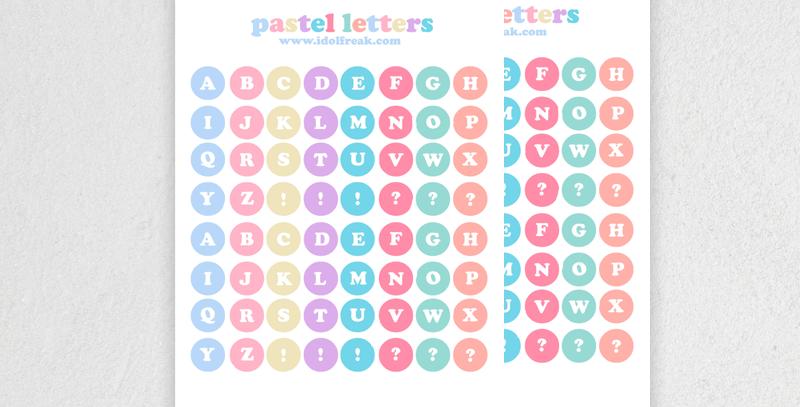 [ADESIVO] PASTEL LETTERS