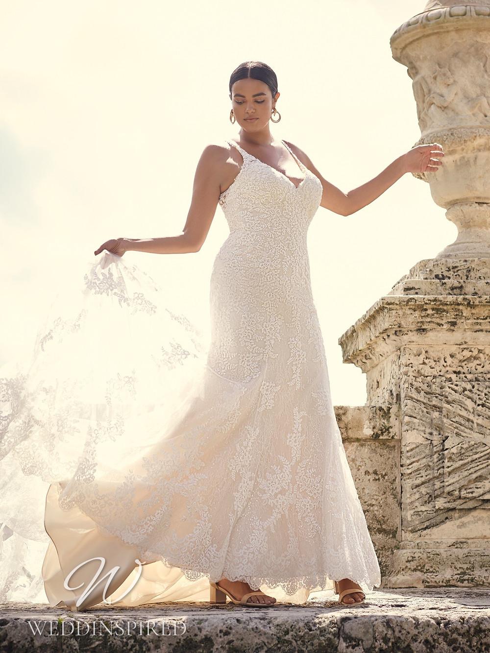 A Sottero & Midgley 2021 plus size lace mermaid wedding dress
