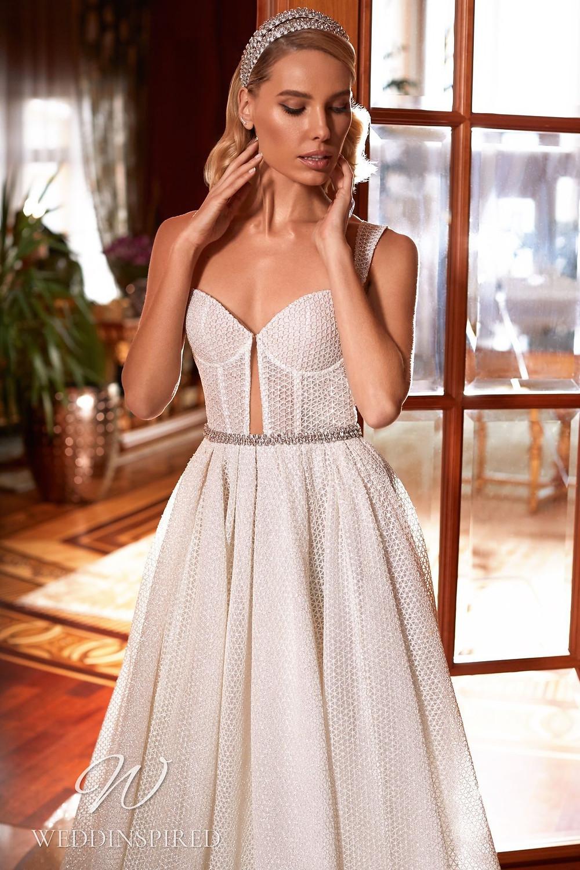 A Pollardi 2021 lace A-line wedding dress