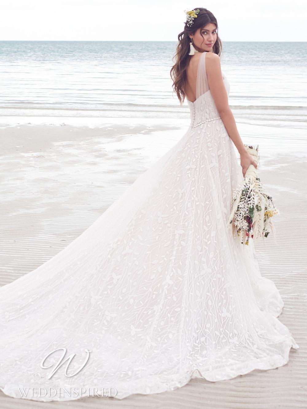 A Rebecca Ingram 2021 boho lace A-line wedding dress
