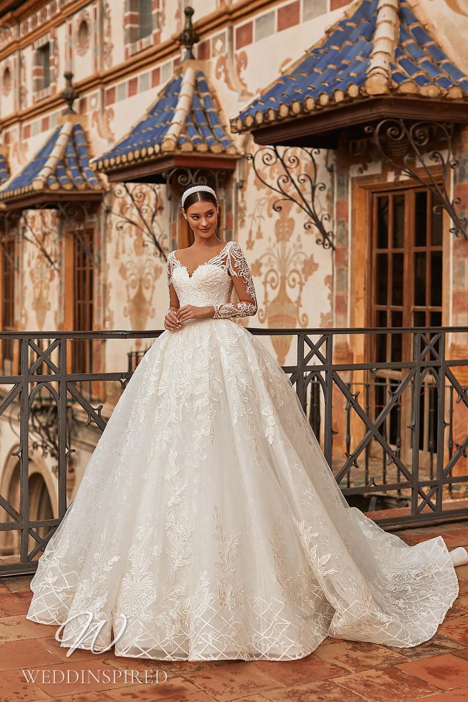 A Royal by Naviblue 2021 lace princess wedding dress with long sleeves