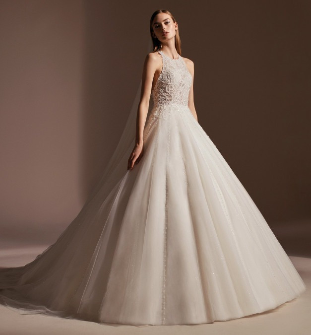 Weddinspired | 35+ Stylish Halterneck Wedding Dresses | Pronovias - From the Privée 2020 collection