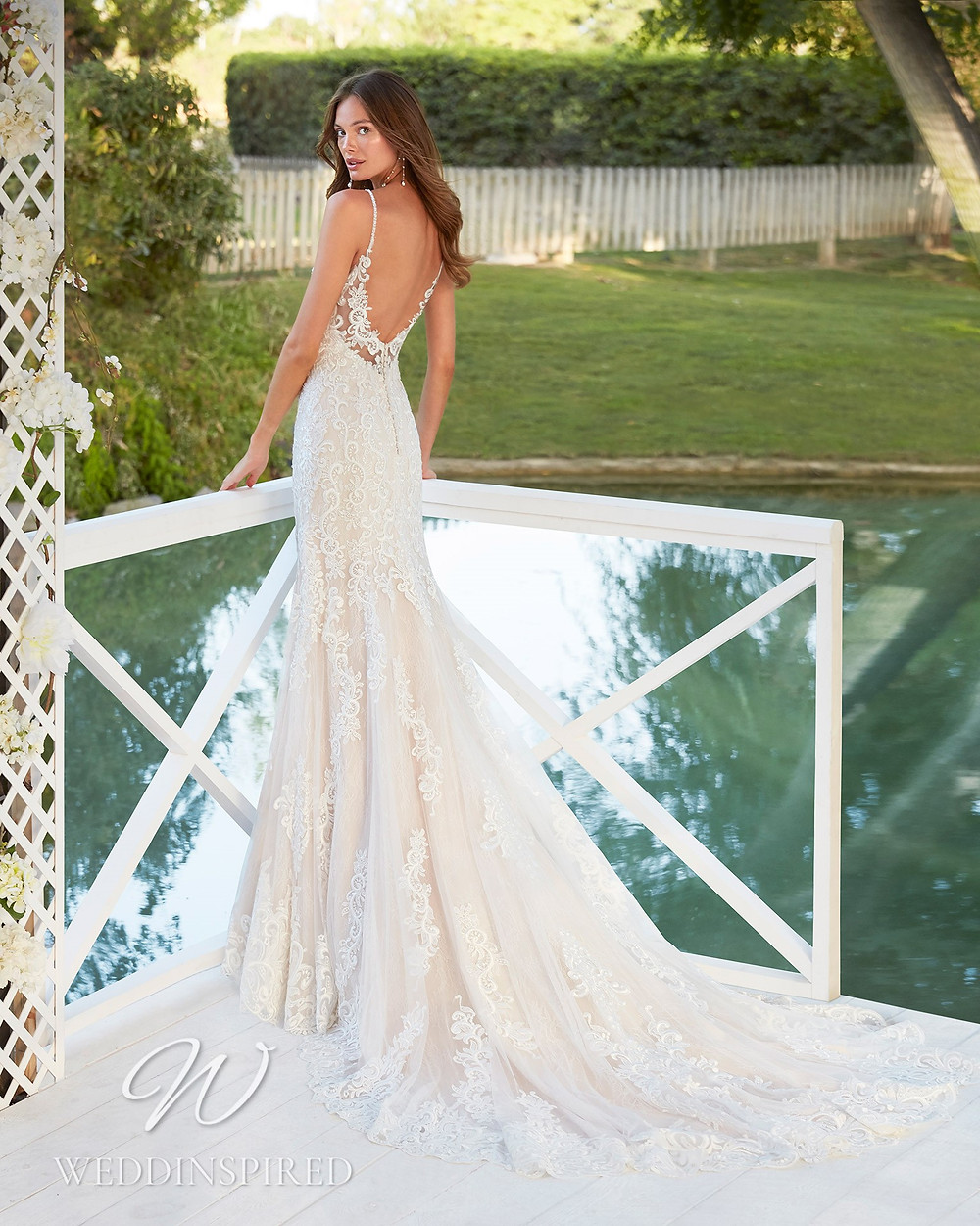 An Aire Barcelona 2021 lace open back mermaid wedding dress