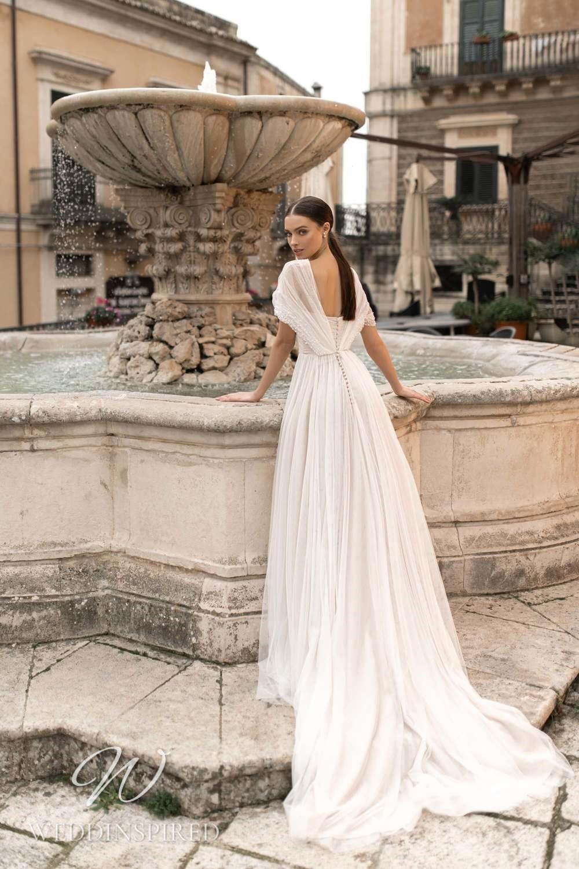 A Lussano 2021 boho tulle A-line wedding dress
