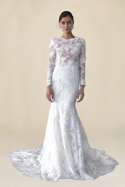 A Marchesa lace mermaid wedding dress