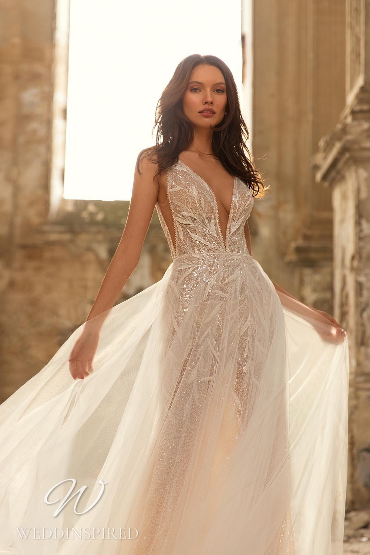 An Eva Lendel 2021 tulle A-line wedding dress