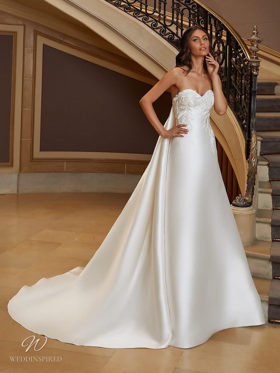 A Pronovias 2021 silk empire waist wedding dress