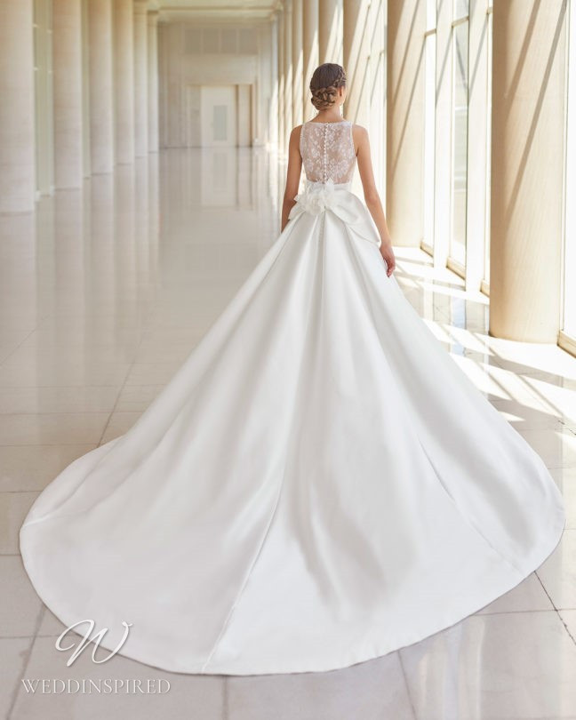 An Aire Barcelona 2021 lace and satin princess ball gown wedding dress