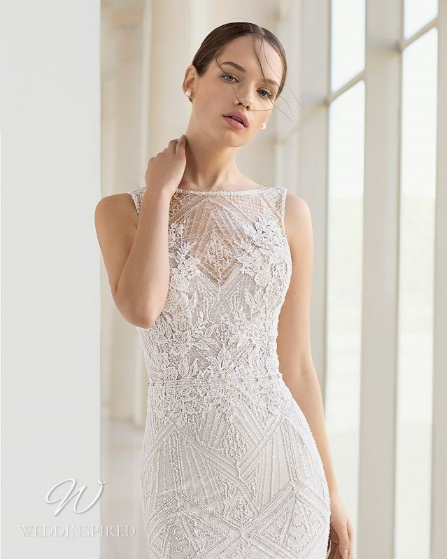 A Rosa Clara 2021 lace mermaid wedding dress